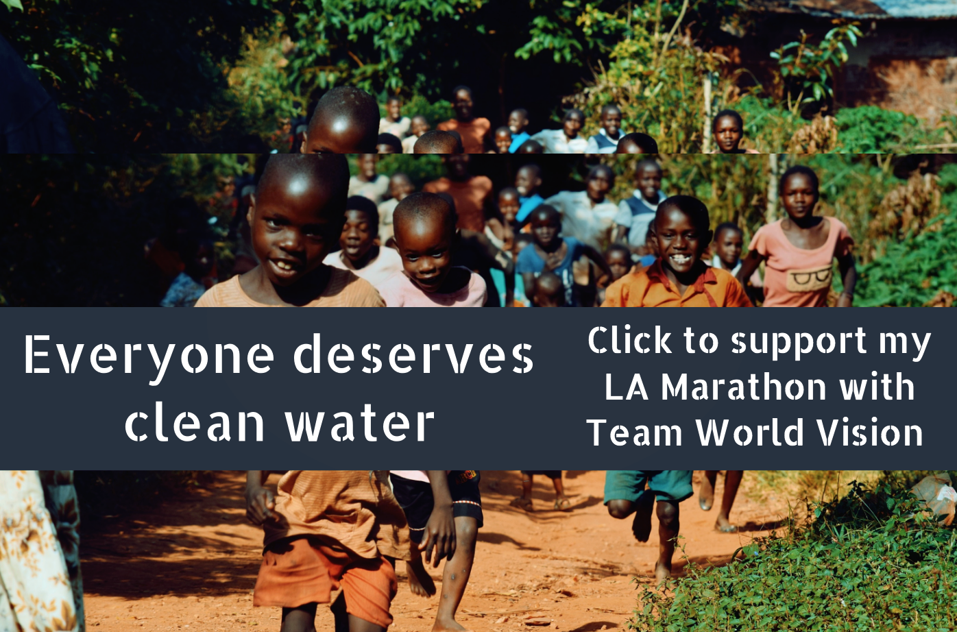LA Marathon for clean water with Team World Vision